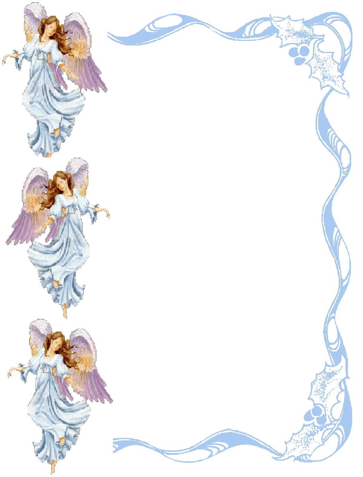 Images In My Treasure Box Angel Borders Frames And Backgrounds