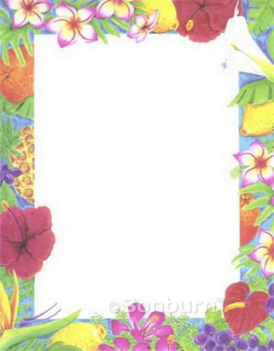 Luau Design Paper Printable Stationery 85103 Geographics