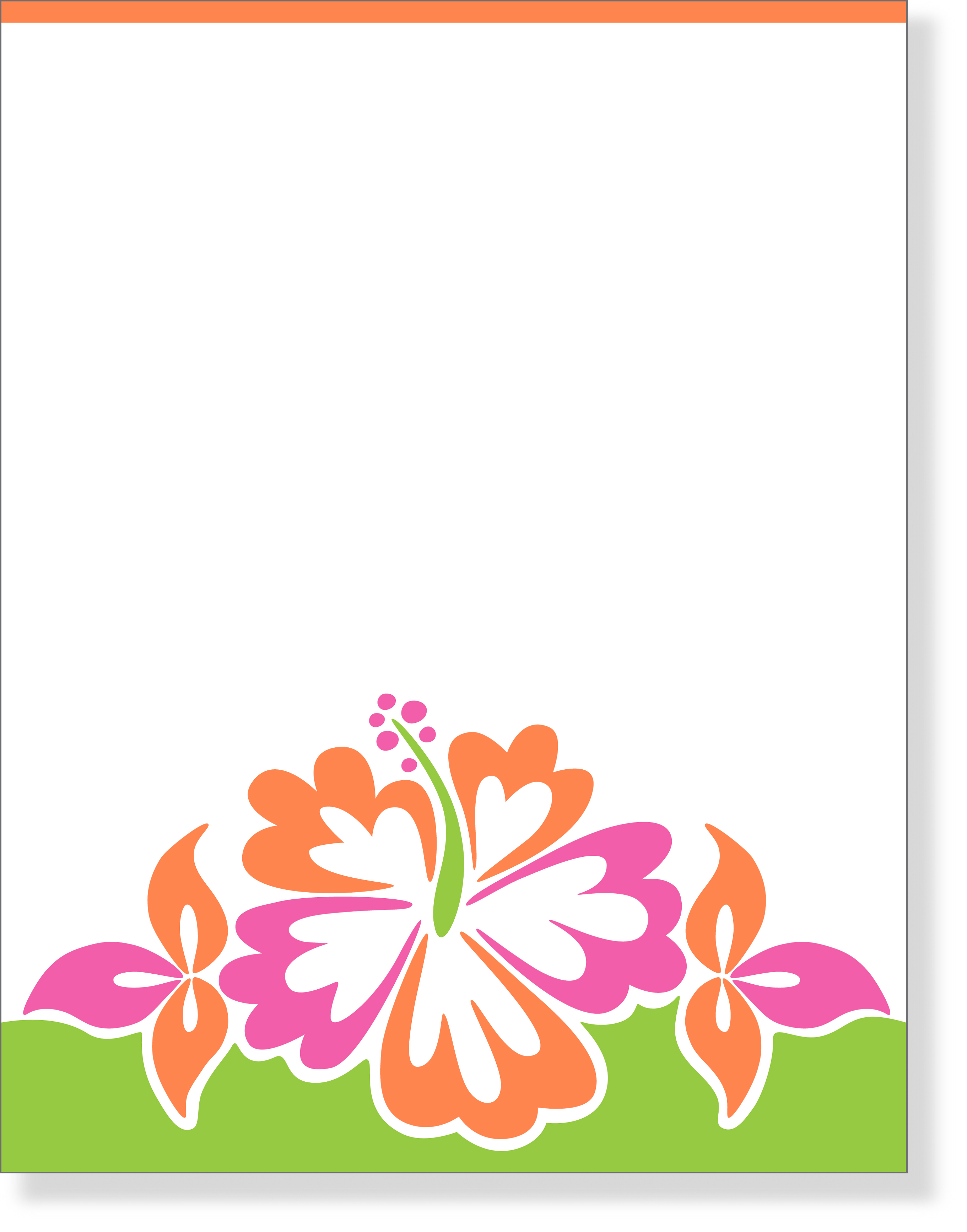 Luau Flower Laser Paper   Make An Impression With Our Premium Quality