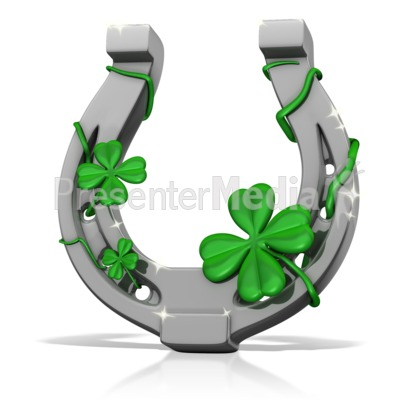Lucky Horseshoe   Holiday Seasonal Events   Great Clipart For
