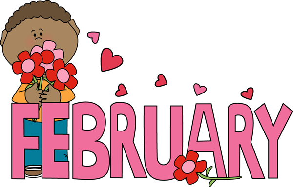 Month Of February Valentine S Day Clip Art   Month Of February