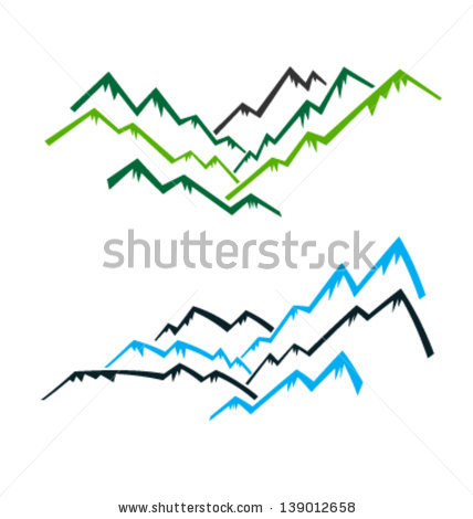 Mountain Peak Vector Stock Vector Group Of Mountains With Peaks