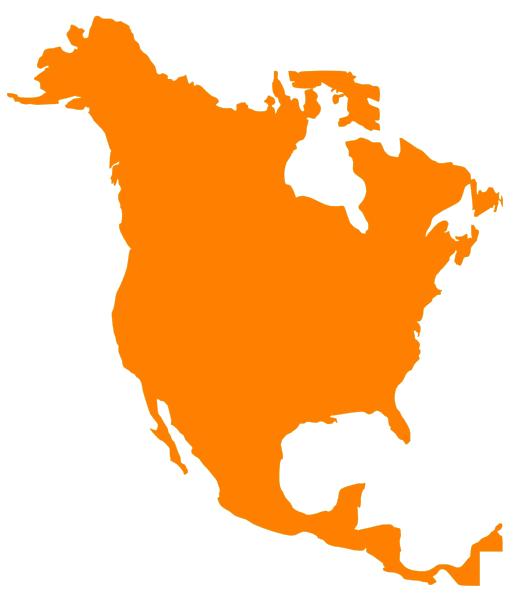 North America Map Clip Art At Clker Com Vector Clip Art Online