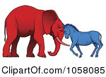 Of A Democratic Donkey And Republican Elephant Facing Off Jpg