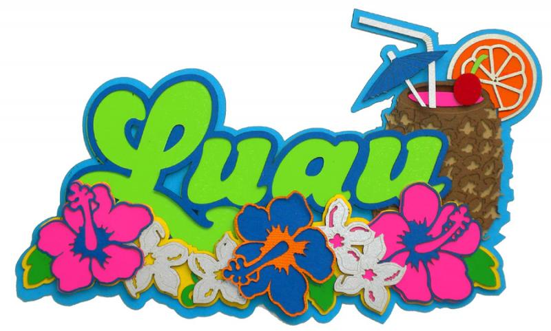 Paper Wizard   Hawaii Collection   Die Cuts   Luau