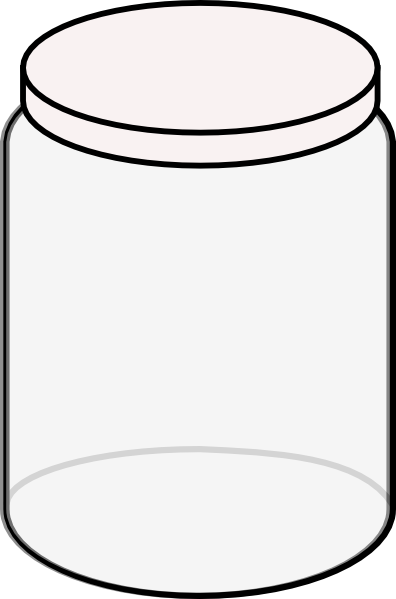 Plain Dream Jar White Clip Art At Clker Com   Vector Clip Art Online