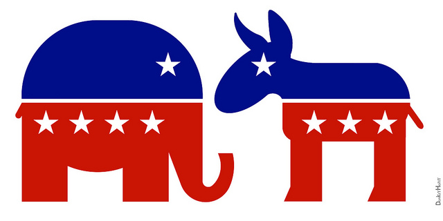 Republican Elephant   Democratic Donkey   Icons   Flickr   Photo