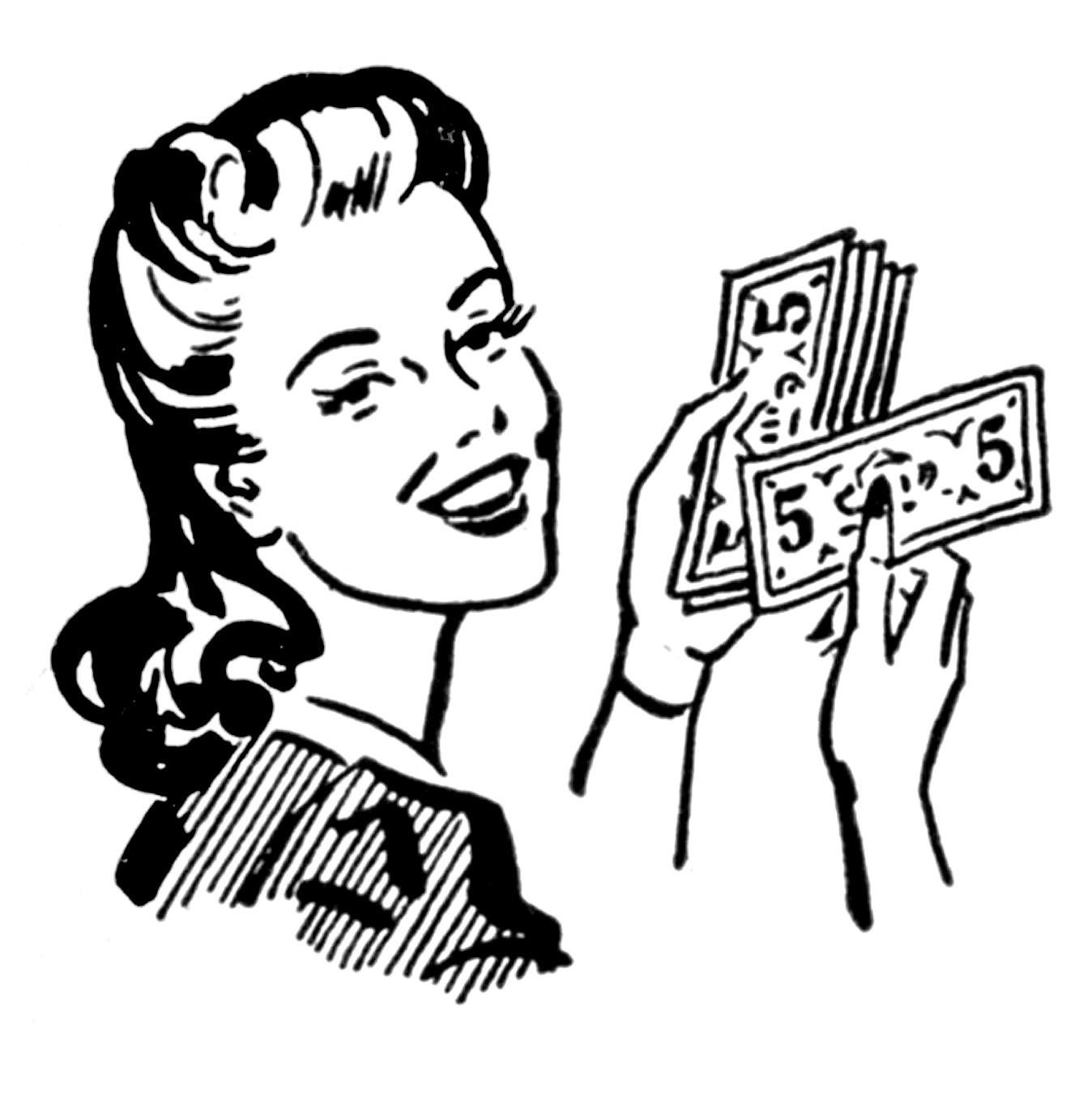 Retro Clip Art   Money Moms   Women   The Graphics Fairy