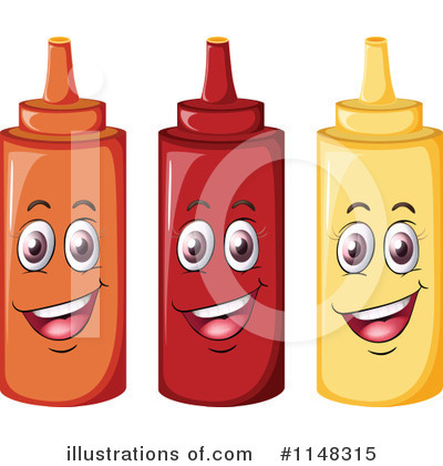 Royalty Free  Rf  Condiment Bottle Clipart Illustration By Colematt
