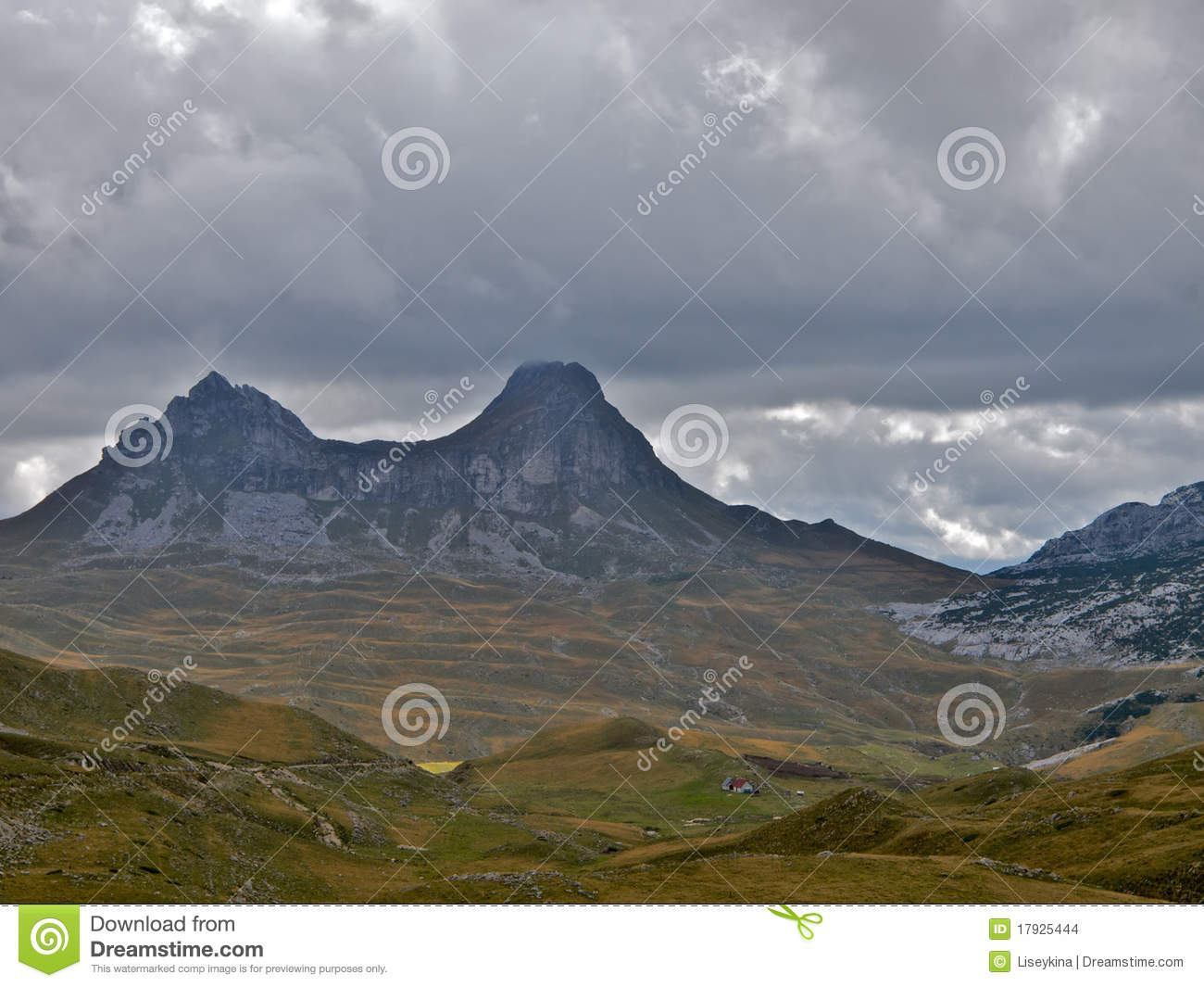 Sedlena Greda Mountain In National Park Durmitor In Montenegro  Low