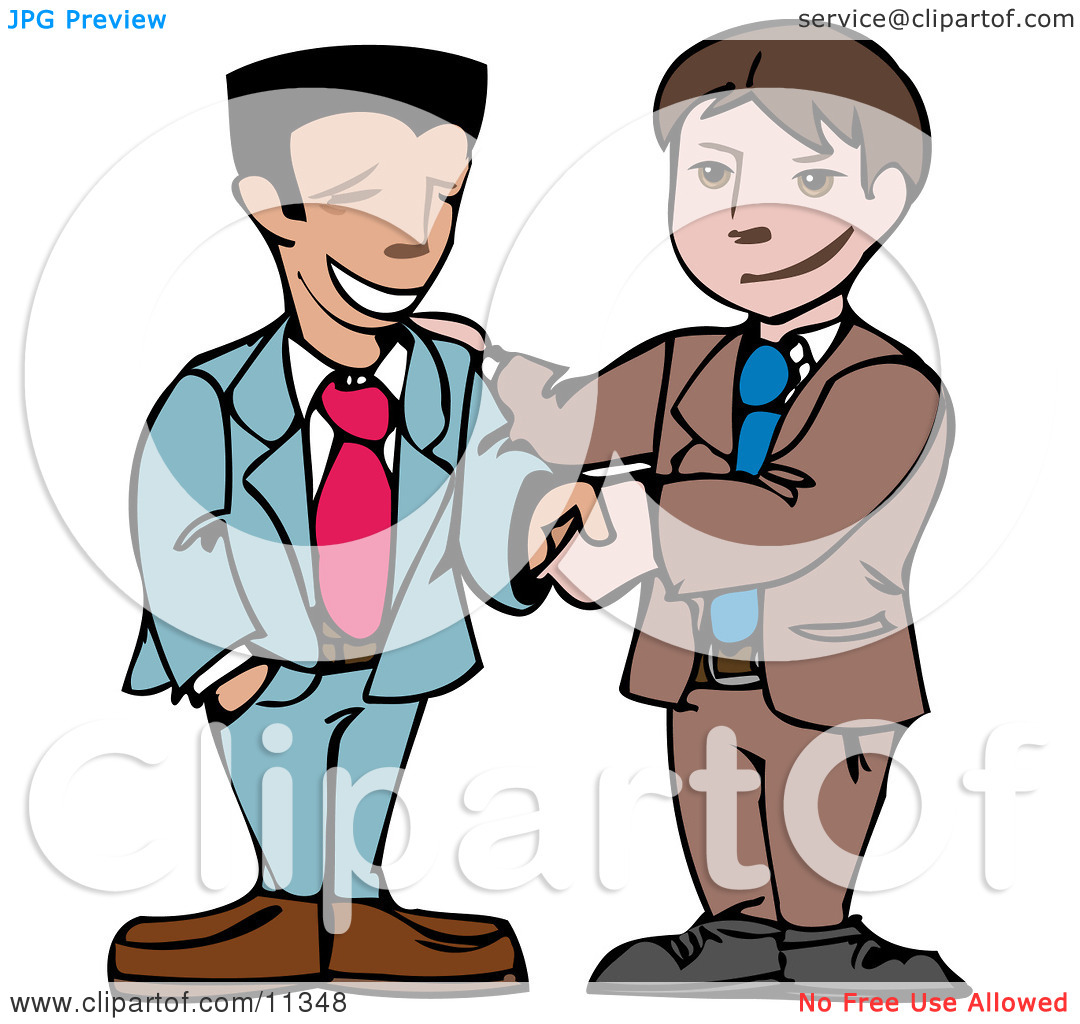 Two Businessmen Shaking Hands Clipart Illustration By Geo Images