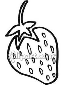 An Outline Of A Strawberry Royalty Free Clipart Picture