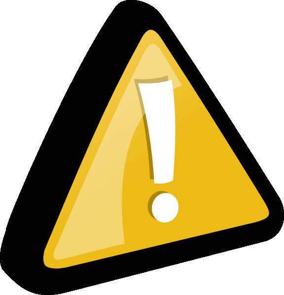 Attention Yellow Clip Art At Clker Com   Vector Clip Art Online