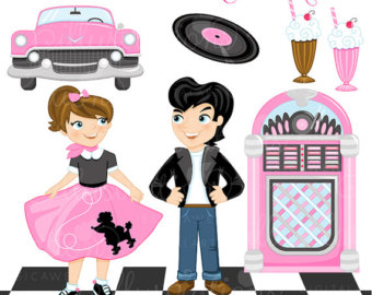 Clipart F Or Commercial Or Personal Use Retro Clipart 50s Clipart