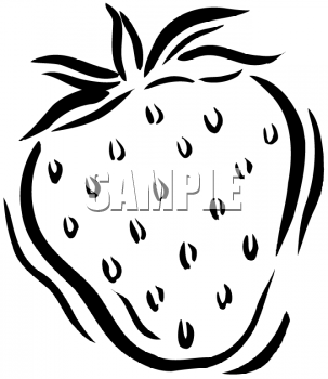 Clipart Picture Of The Outline Of A Strawberry   Foodclipart Com