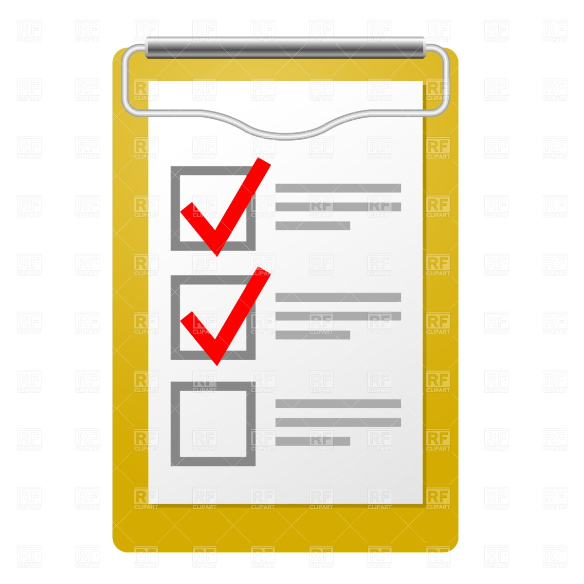 Clipboard With Checklist Download Royalty Free Vector Clipart  Eps