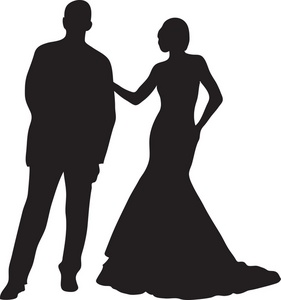 Mr and ms pageant silhouette
