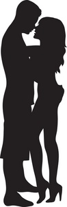 Couple Clipart Image   The Silhouette Of A Couple Kissing