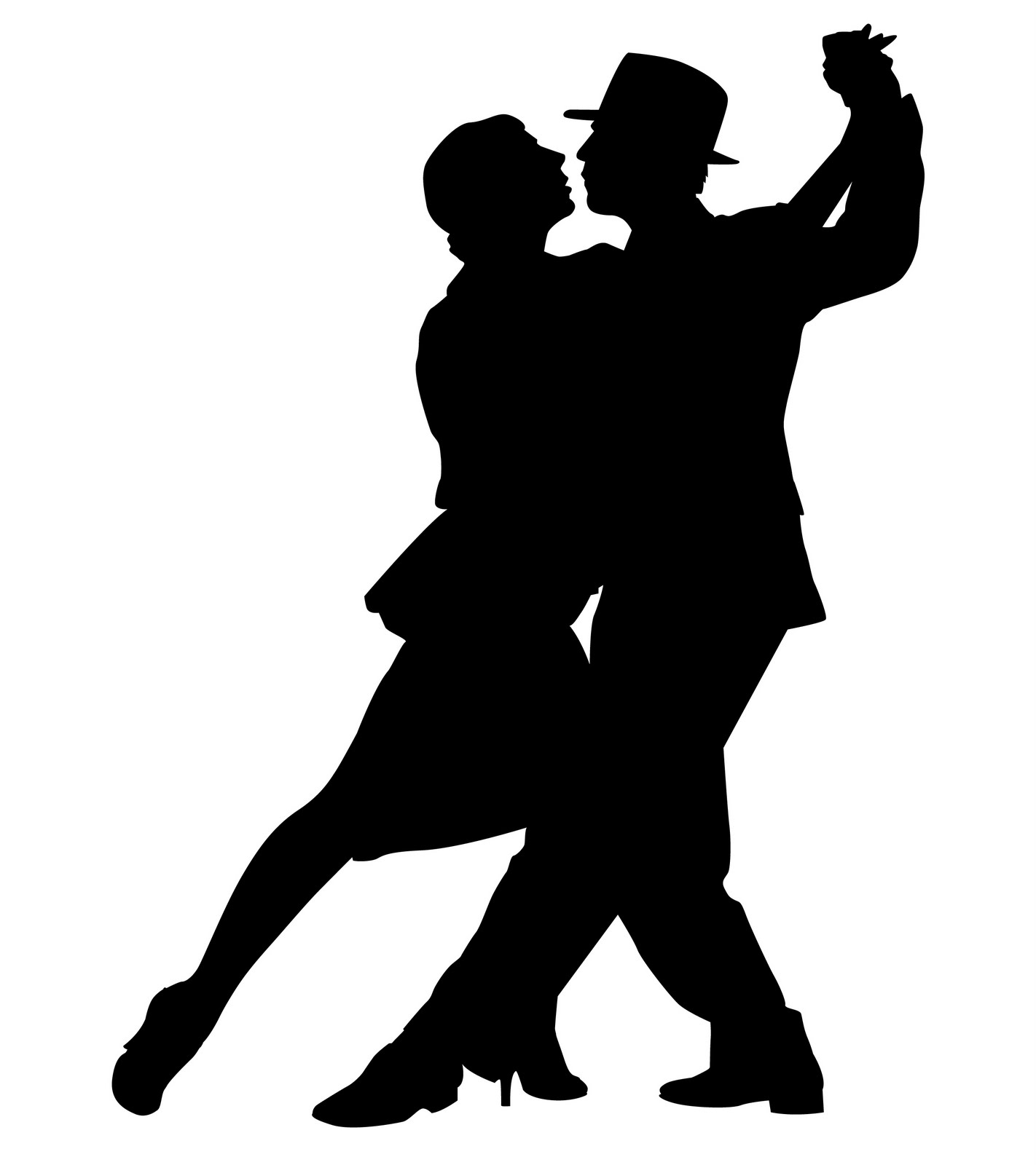 Dancing Couple Silhouette   Clipart Best   Cliparts Co