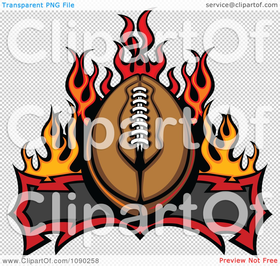 Fantasy Free Football Team Clipart Clipart American Football Over A