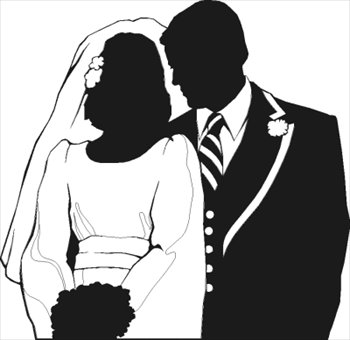 Free Wedding Couple Partial Silhouette Clipart   Free Clipart Graphics