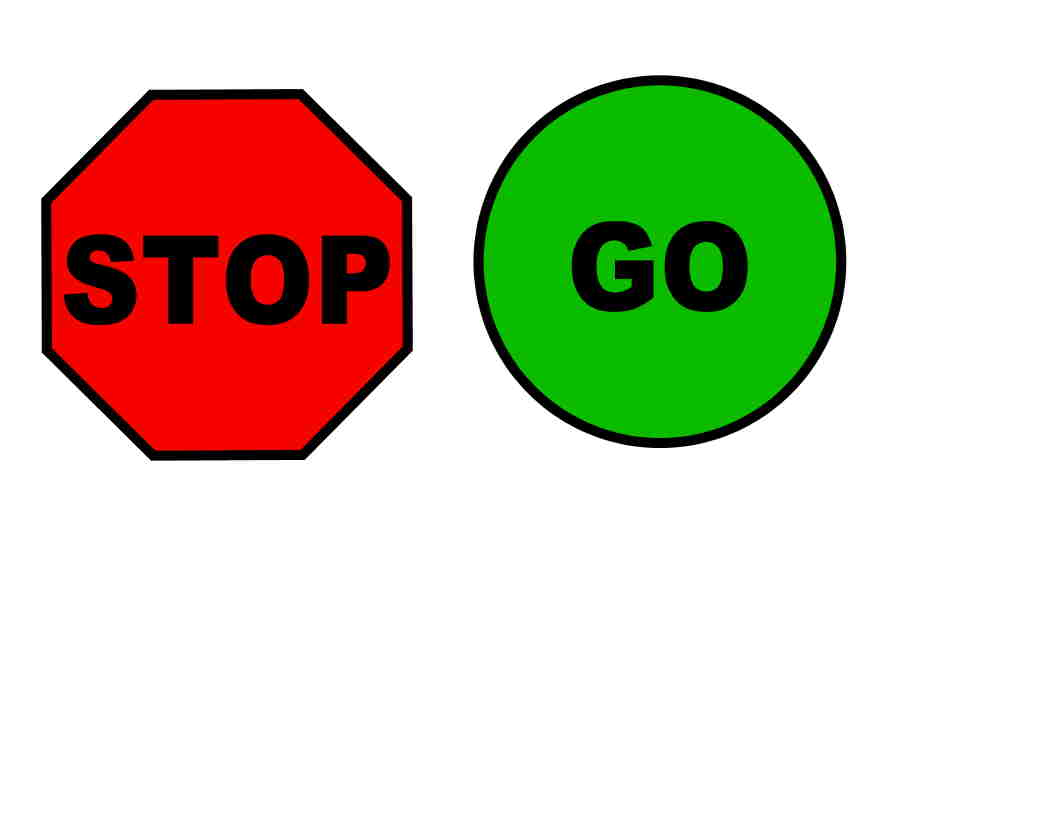 Go Sign Clipart Make Stop And Go Signs On