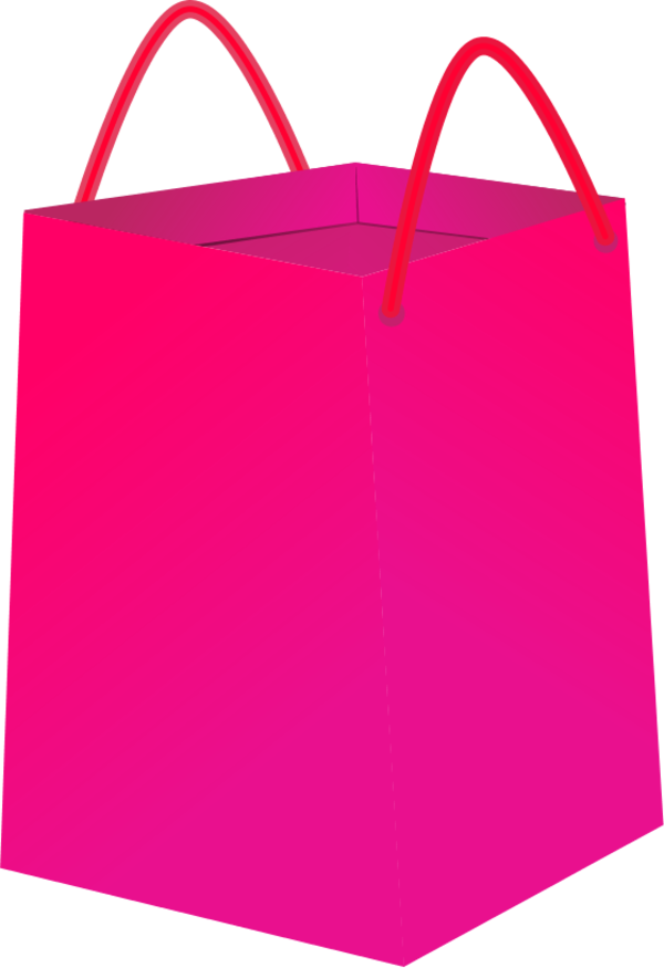 Pink Shopping Bag Clipart - Clipart Suggest