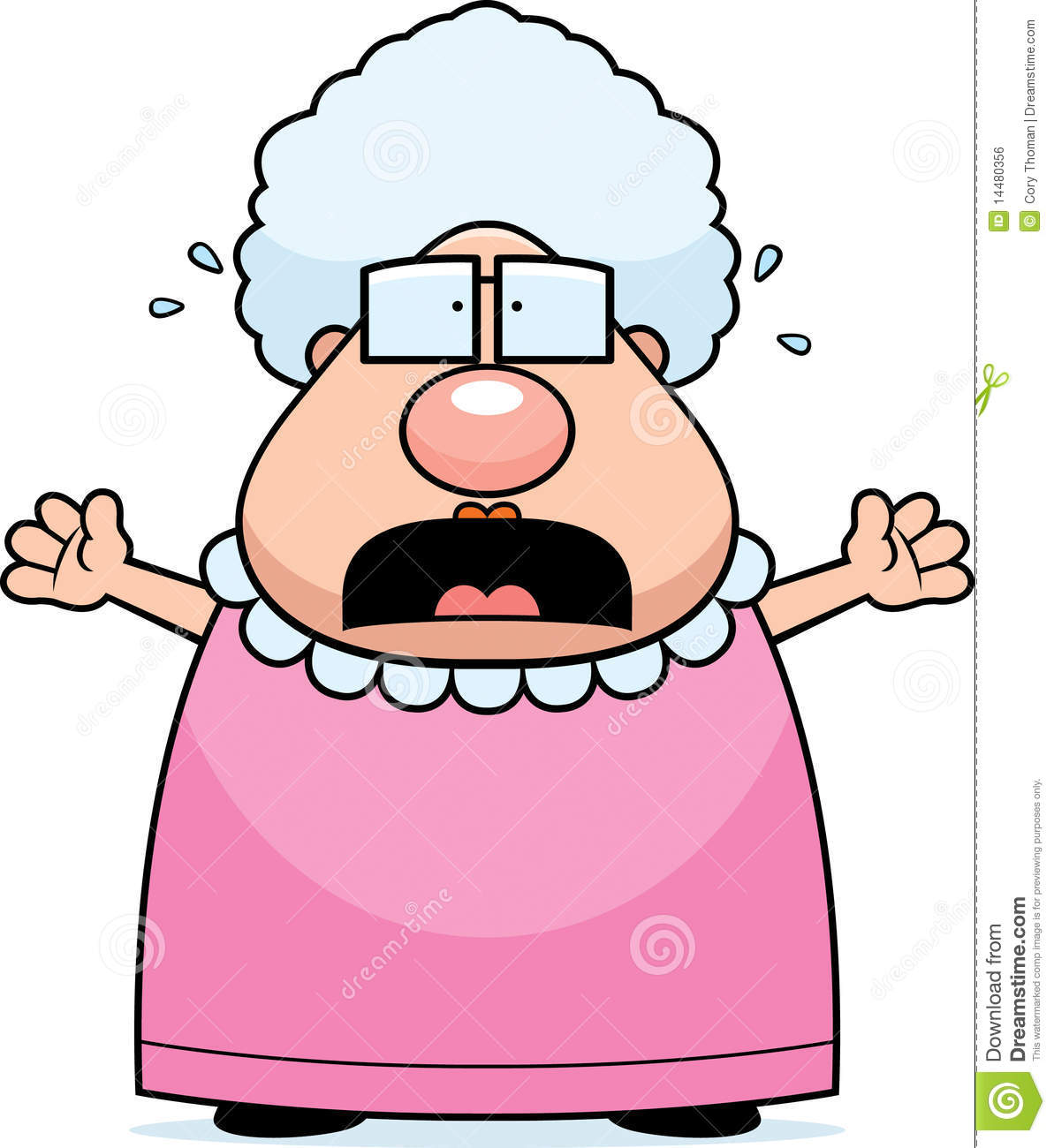 Scared Grandma Royalty Free Stock Image   Image  14480356