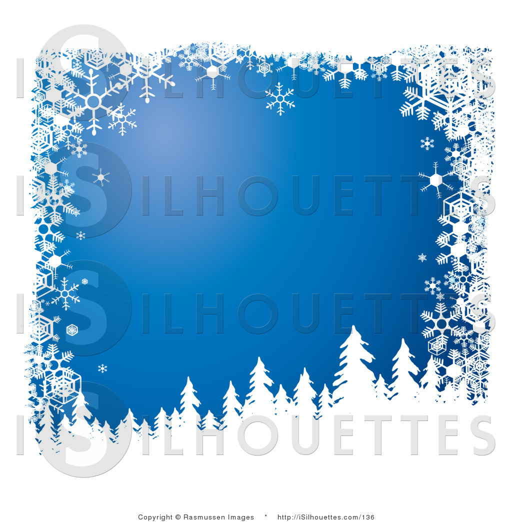 Silhouette Clipart Of Snow Flocked