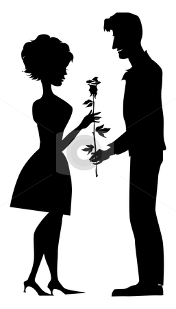 Silhouette Of A Couple Stock Vector Clipart Silhouette Of A Couple
