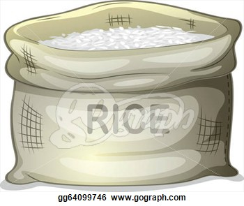 Stock Illustration   A Sack Of White Rice  Clipart Drawing Gg64099746