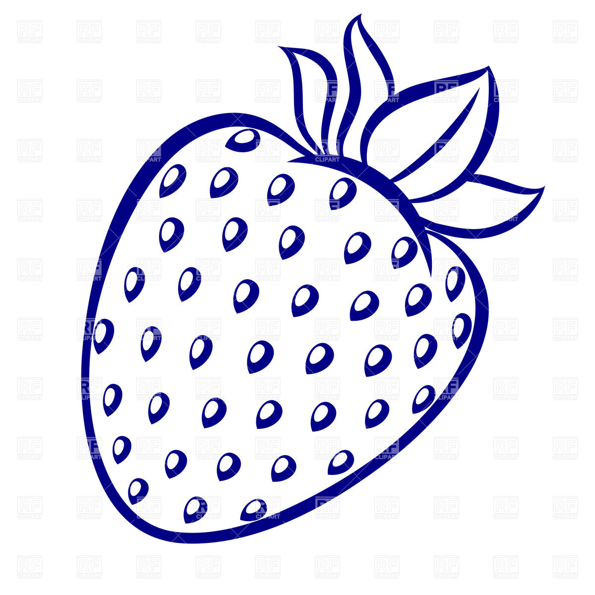 Strawberry Outline Clipart - Clipart Suggest