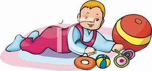 Baby Playing Clipart