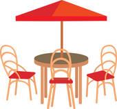 Outdoor Table Clip Art