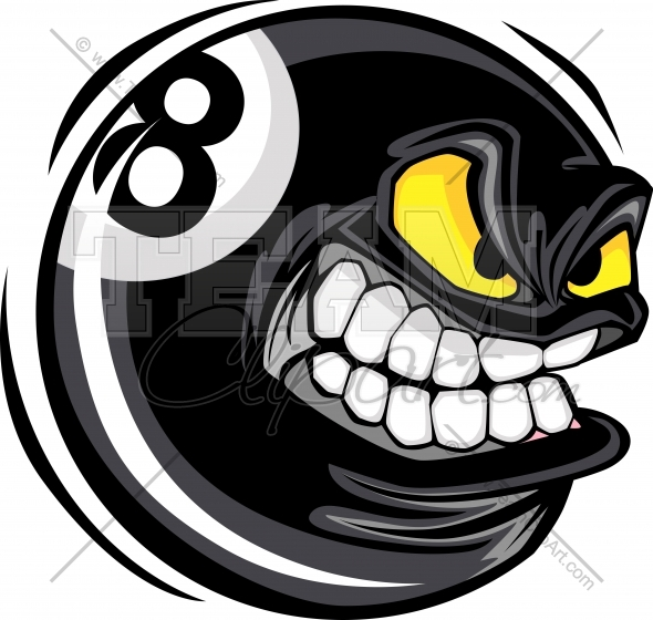 Cartoon Eight Ball Clipart In An Easy To Edit Vector Format