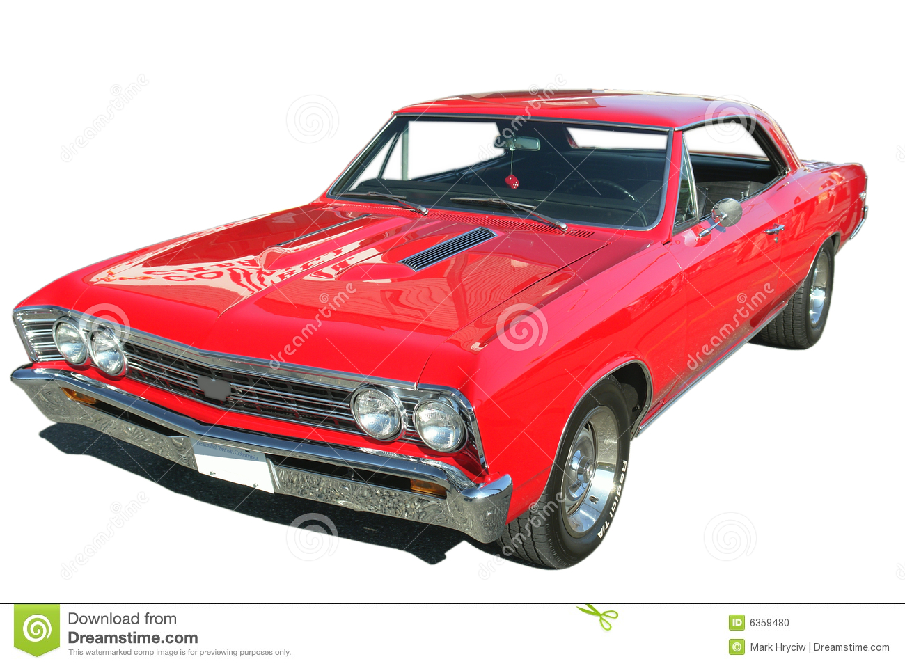 Classic Red Chevelle Isolated Stock Photo   Image  6359480