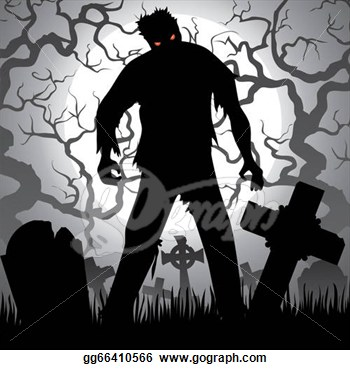 Clipart   Zombie  Stock Illustration Gg66410566