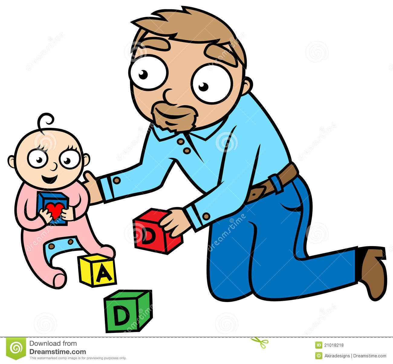 Dad Playing With Baby Girl Love Concept Royalty Free Stock Photos