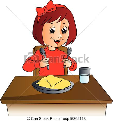 Food On Table   Vector Illustration Of    Csp15802113   Search Clipart