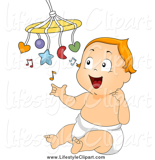 Lifestyle Clipart Of A Baby Playing With A Mobile By Bnp Design Studio