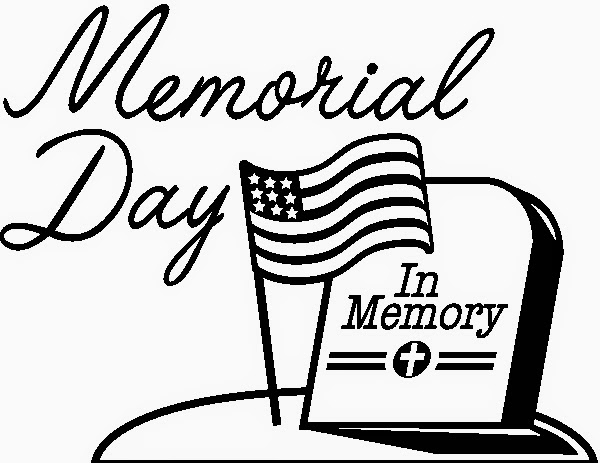 Memorial Day 2014 Clipart Black And White Line Art Jpeg