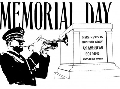 Memorial Day Clip Art Black And White 1 435x296 400x296 Jpg