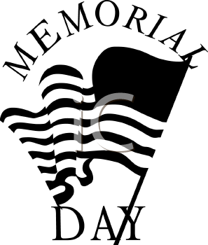 Memorial Day Clip Art Black And White   Clipart Panda   Free Clipart