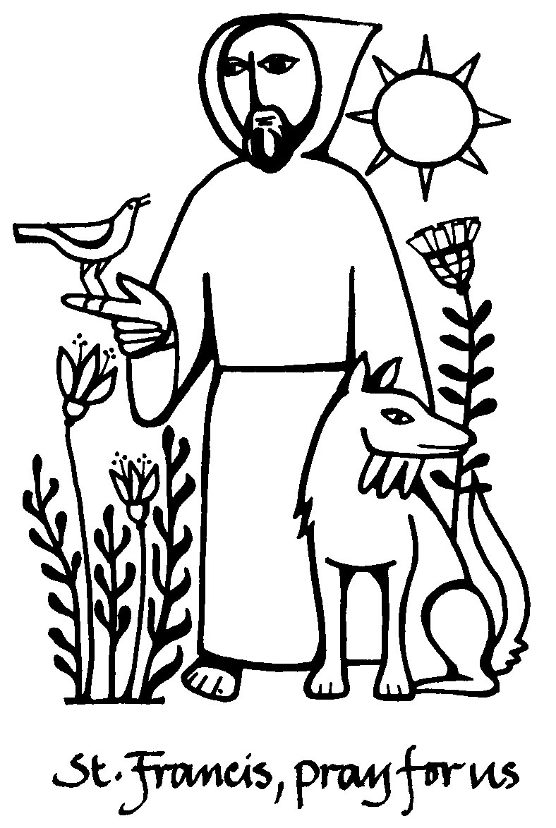 Clip Art Of St. Francis Blessing The Animals Clipart - Clipart Kid