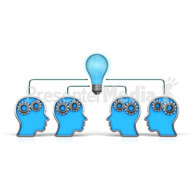 Outline Heads Teamwork Idea   Presentation Clipart   Great Clipart For