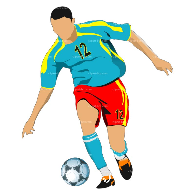 Playing Soccer Clip Art Soccer Player120627 Jpg