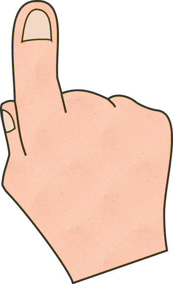 Pointing Hand Clipart - Clipart Kid
