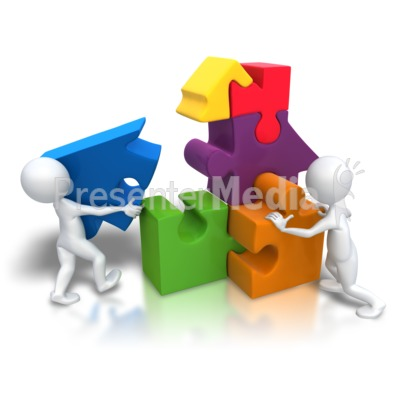 Puzzle Pieces House Teamwork   Education And School   Great Clipart