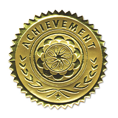 Southworth  Gold Foil Certificate Seals Achievement Embossed Foil