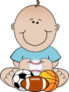 Sports Baby Clip Art At Clker Com   Vector Clip Art Online Royalty